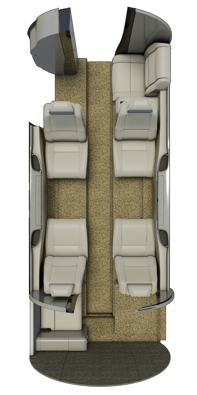 3D floor plan showing the layout of the Cessna M2.